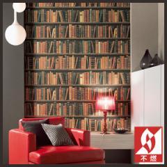 【 壁紙 のり付き DIY】 壁紙 のりつき クロス 不燃 アート 本 本棚 洋書 壁紙 サンゲツ RE-2783