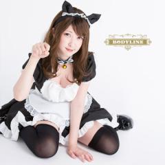 ハロウィン コスプレ 黒猫 メイド服 コスチューム 4点セット 衣装 ペア セクシー ハロウィンコスプレ