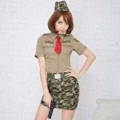 コスプレ コスチューム一式 6点セット ポリス アーミー ハロウィン 衣装 b2008
