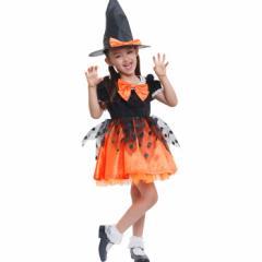 コスプレ コスチューム一式 魔女 子供用  ハロウィン 衣装 kid119