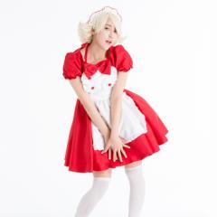 ハッピーメイド コスプレ メイド 衣装 アリス 大人用 ロリータ S〜4Lサイズあり 3色展開 3点セット