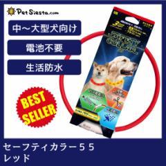 セーフティカラー 55 レッド お散歩 ライト 充電式 犬用