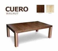 105cm×70cmタイプ 【クエロ】 ウォールナット色  暖卓機能付フロアテーブル お洒落こたつ リビングテーブル ローテーブル