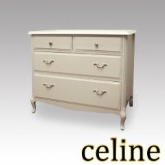Celine セリーヌ  チェスト80 アンティーク家具 白家具 アンティーク調 ヨーロピアン クラシック家具 洋風家具 輸入 エレガント
