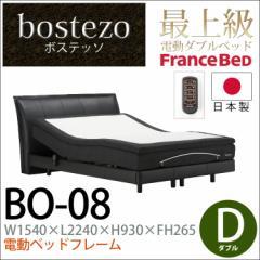 【ダブルサイズの電動ベッドフレーム+ワイヤレス】bostezo ボステッソBO-08