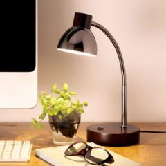 MotoM LEDテーブルランプ 木製ダークブラウン GS1704DB アンティーク調 コンパクト オリンピア照明