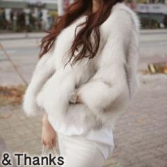 大人可愛い ノーカラーファーコート 1カラー5サイズ