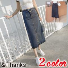 春コーデ デニムスカート 2カラー6サイズ