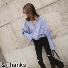 春コーデ 変形スキッパーシャツ 1カラー3サイズ