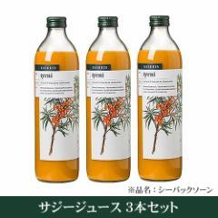 有機シーバックソーン100%ジュース×3本セット カスケイン(サジージュース)(シーベリージュース)