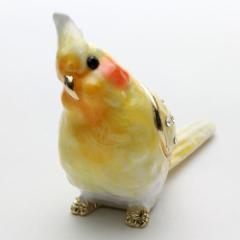 ◇オカメインコ◇【ミニジュエリーケース】 宝石箱 (ペケちゃん)ジュエリーボックス