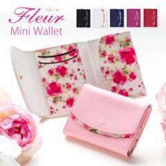 財布 レディース 三つ折り財布 コンパクト ミニ財布 おしゃれ 三つ折り 小さい財布 かわいい 花柄 ショートウォレット ギフト プレゼント