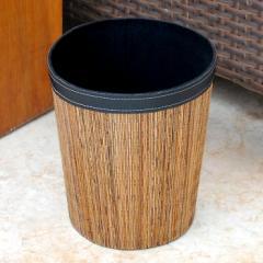 ゴミ箱 おしゃれ ダストボックス くずかご 丸型 円形 丸い モダン アジアン リビング 寝室 鉢カバー バリ雑貨 パームリディ