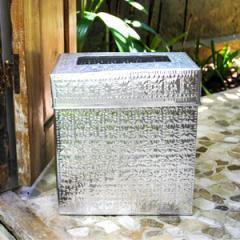 アルミ製インナー付きゴミ箱 スクエア型 シルバー