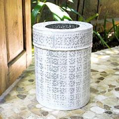 アルミ製インナー付きゴミ箱 ラウンド型 ホワイト