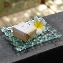 ガラスの アジアン ソープディッシュ [66303] 石鹸台 せっけん皿 せっけん置き せっけん台 小物入れ 雑貨 バリ アジア雑貨 アジアン雑貨