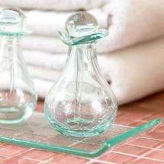 ガラスのスパボトル Cタイプ [66319] アロマ オイルボトル 瓶 アメニティ 癒し おしゃれ リゾート 小物 ガラス容器 ガラス瓶 硝子の小瓶