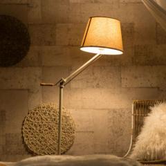 スタンドライト フロアスタンド 電球付き E26/60W 角度調節 ハンドル フロアライト スタンド照明 間接照明 一灯式 電気