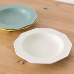 中皿 23.6cm 陶器製 10角皿 お皿 プレート [92082] 食器 丸皿 中皿 プレート皿 十角皿 変形皿 10角プレート おしゃれ アジアン アジアン