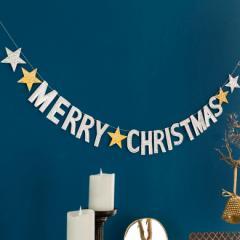 オーナメント クリスマス ガーランド ツリー 飾り グッズ ディスプレイ パーティ Christmas 演出 吊り下げ ゴールド