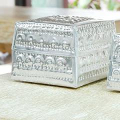 アジアン雑貨 アルミの四角いケース L