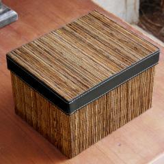 パームリディのフタ付き収納ボックス 23x18cm