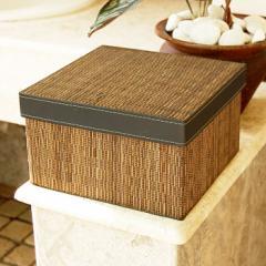 パームリディのフタ付き収納ボックス 正方形タイプ 23x23cm