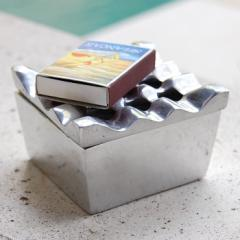 波型デザインのアルミ製灰皿[8801] 灰皿 おしゃれ 灰皿 フタ付 おしゃれ 卓上灰皿 灰ざら はいざら 灰皿 来客用 アンティーク風 アンティ