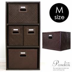 収納ボックス 収納 箱 収納ケース バスケット インナー ボックス Mサイズ 折り畳み カラーボックス パンダン 小物入れ 雑貨
