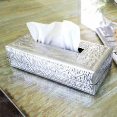ティッシュケース アルミのティッシュケースボックス