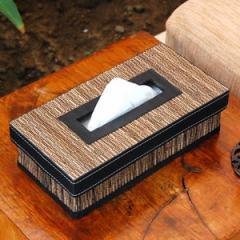 パームリディで編まれた折り畳みティッシュケースカバー