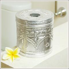 ティッシュケース アルミ製トイレットティッシュケース