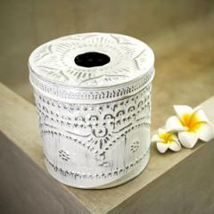 アルミ製トイレットペーパーケース ホワイト