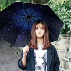 傘 日傘 晴雨兼用 折りたたみ 遮光 uvカット 折りたたみ傘 星空 軽量 日傘 レディース ひんやり傘 傘 かさ カサ