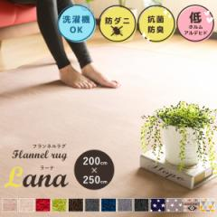 ラグ ラグマット カーペット 洗える ウォッシャブル フランネル 200×250cm 3畳 三畳 長方形 滑り止め付