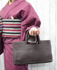 【P5倍】【送料無料】牛革 スクエアートートバッグ コンパクト 牛革 可愛い 和装にもぴったり レディース 大人の女性におすすめ