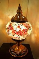 【モザイクガラスのアラビアンランプ【3色】】  インド おしゃれ テーブルスタンド 卓上 エスニック