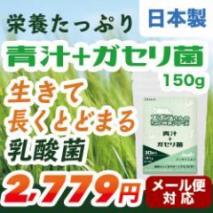 青汁 ガセリ菌 粉末 150g サプリメント 乳酸菌 腸内フローラ 日本製 大麦若葉 ケール