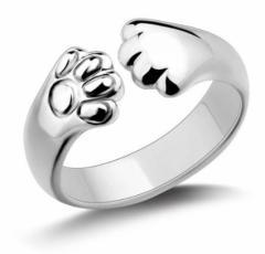 シルバーリング 猫 ネコ ねこ グッズ 肉球 リング 指輪 プレゼント