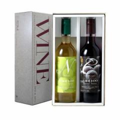 はこだてわいん 北海道100-CN 赤白ワイン2本セット 日本 国産 ワイン