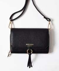 【送料無料】Tassel Wallet Shoulder (Black)