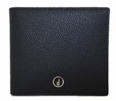 d7691713c366 未使用 ダンヒル 財布 二つ折り 型押し レザー サイフ ブラック 黒 DUNHILL メンズ 紳士用