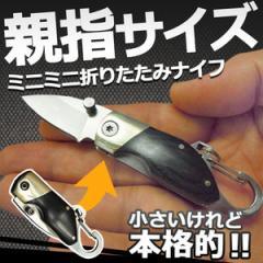 親指サイズ ミニ 折り畳み ナイフ サバイバル 携帯用 コンパクト 小型 カラビナ アウトドア キャンプ 作業 TEC-MNKNFD