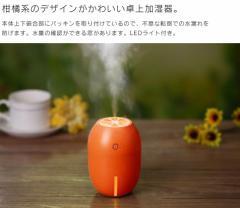 ADIR 漏水防止機能付 超音波式 シトラスミニ 加湿器 USB 加湿 インフルエンザ 風邪 対策 柑橘系デザイン