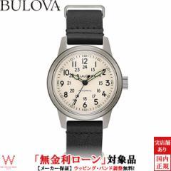 無金利ローン可 ブローバ 腕時計 メンズ BULOVA ミリタリー Miitary 96A246 自動巻 機械式 革ベルト ブラック ブランド 時計