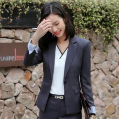 2aa898f8320a2 スーツ レディース スカートスーツ パンツスーツ ブラックフォーマル 2色 グレー 就職活動 オフィス セットアップ 全店