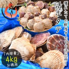 ホタテ ほたて 殻付き 活ホタテ 活ほたて 4kg(約15〜40枚)