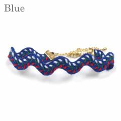 ブレスレット ミサンガ メンズ 人気モデル愛用 Onda Misanga ブルー