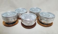 タイ伝統のコップとコースターのセット☆5点セットです!