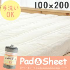 ボックスシーツ BOXシーツ 布団カバー マットカバー マットレスカバー 寝具 シングルサイズ Pad&Sheet(パッド&シーツ) 100×200cm
